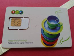 THAILAND SIM GSM 12Call Tasses - With Numbers USIM RARE Used (BH1219b5 - Thaïlande
