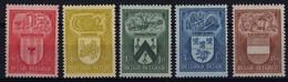 1946 - Nr 743-747 ** (4.50 Fr A Bit Waved) - Nuevos