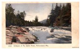 New York  Glimpse Of Au Sable River - Adirondack