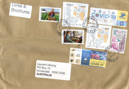(PP 15) France Cover Posted To Australia (with COVID-19 Stamp Of France) Livres & Brochures Mail - Enfermedades