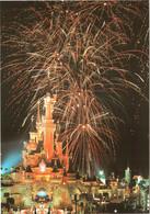 CPM 77 (Seine-et-Marne) Serris - EURODISNEY Disneyland Paris. Château, Feu D'artifice TBE Au Val D'Europe - Disneyland