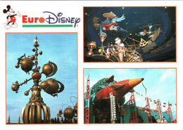 CPM 77 (Seine-et-Marne) Serris - EURODISNEY Disneyland Paris. Discoveryland, Multivues TBE Au Val D'Europe - Disneyland