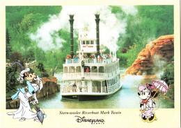CPM 77 (Seine-et-Marne) Serris - EURODISNEY Disneyland Paris. Stern-weeler Riverboat Mark Twain TBE Au Val D'Europe - Disneyland