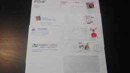 Portugal - 4 Cartas Modernas Circuladas - Covers & Documents