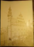 Oude Foto (55,5 Cm X 38,5 Cm), Onbekende Nederlandse Stad, Begin 20ste Eeuw - Places