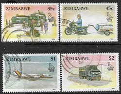Zimbabwe   1990   Sc#627, 629-31   35c, 45c, $1, $2  Transportation  Used   2016 Scott Value $5.40 - Zimbabwe (1980-...)