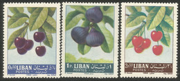 566 Liban Cerises Figues Cherry Cherries Figs MH * Neuf CH (LBN-100) - Airplanes