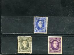 Slovaquie 1939 Yt 22-23 25 (non Dentelé) * - Unused Stamps