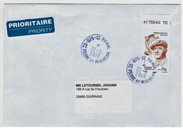 """St.Pierre Et Miquelon 2018 Oblitéré  YT 1209  """"Pierre Hélène"""" Cachet  St.Pierre - Cartas"""