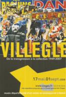 F95 / CARTE Publicitaire CPM Advertising Card Cart' Com ART Jacques VILLEGLE Vosges AFFICHES EXPO ART - Theatre