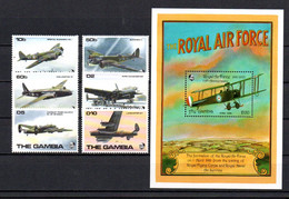 T1-10  Gambie N° 923 à 928 + BF 183 **  A Saisir !!!  Avions - Gambia (1965-...)