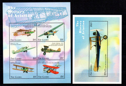 T1-10  Gambie N° 2578 à 2583 + BF 375 **  A Saisir !!!  Avions - Gambia (1965-...)
