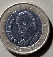 2008 - SPAGNA  - MONETA IN EURO - DEL VALORE DI  1,00  EURO  - USATA - - Spanien