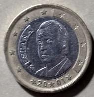 2001  - SPAGNA   - MONETA IN EURO - DEL VALORE DI  1,00  EURO  - USATA - - Spanien