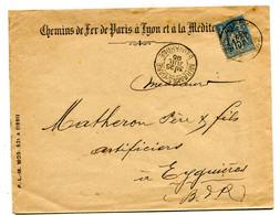 BOUCHES DU RHONE Dateur A 2  MIRAMAS Gare  Sur Env. De 1895 Pothion N°767A - Railway Post
