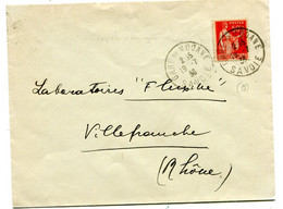 SAVOIE Dateur A 4 GARE DE   MODANE   Sur Env.  De 1936 Pothion N°768 - Railway Post