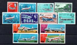 T1-12  Fidji N° 187 à 189 + 215 à 218 + 330 + 347 à 350 **  A Saisir !!!  Avions - Fiji (1970-...)