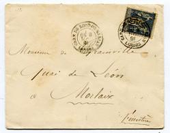 LANDES Dateur T 18 Modifié GARE DE MONT-DE-MARSAN Sur Env. De 1891 Pothion N°776 - Railway Post