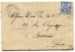 LOIRET Dateur T 17 GARE DE MONTARGIS Sur LAC De 1877 Pothion N°778 - Railway Post