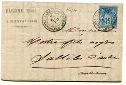 TARN ET GARONNE Dateur T 18 GARE DE MONTAUBAN Sur LAC De 1879 Pothion N°782 - Railway Post