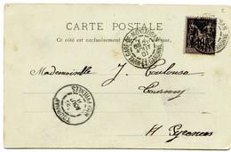 TARN ET GARONNE Dateur A 2 GARE- DE- MONTAUBAN Sur CP De 1901 Pothion N°783 - Railway Post