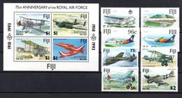 T1-12  Fidji N° 658 à 661 + 704 à 707 + BF 10 **  A Saisir !!!  Avions - Fiji (1970-...)