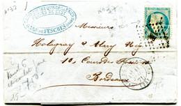 DOUBS Dateur T 17 GARE DE MONTBELIARD Sur LAC Du 11/07/1871 Avec N°37!!! Pothion N°789 - Railway Post
