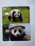 China, Panda, (2pcs) - Carte Di Credito (scadenza Min. 10 Anni)