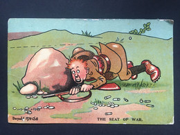 GB 1907 McGill Postcard - `The Seat Of War` - Comics