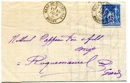 DROME Dateur T 18 GARE DE MONTELIMAR Sur LAC De 1880  Pothion N°797 - Railway Post