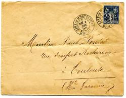 DROME Dateur A1  GARE DE MONTELIMAR Sur Env.  De 1896  Pothion N°797 - Railway Post