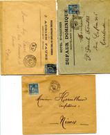 DROME Dateur A2  GARE DE MONTELIMAR Sur 3 Env.  De 1892 1898 1900  Pothion N°797 - Railway Post