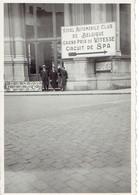 Spa Années 1930 : Photo Avec Annonce Du GP De Vitesse Sur Le Circuit De Spa Et De L'exposition De Chats - Places