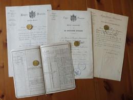 LOT DECORATIONS / DIPLOMES SECOND ENPIRE / COMMEMO. CAMPAGNE ITALIE / MEDAILLE MILITAIRE / LEGION HONNEUR / ORIGINAUX - Avant 1871
