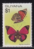 Guyana 1978, $1 Butterflies, Minr 550 MNH. Cv 6 Euro - Guyane (1966-...)