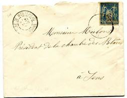SEINE ET MARNE Dateur A 2 GARE DE MONTEREAU Sur  Env. De 1891  Pothion N°800 - Railway Post