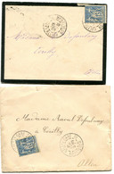 ALLIER Dateur A 2 GARE DE MONTLUCON Sur LAC De 1896 Et Env. De 1898  Pothion N°805 - Railway Post