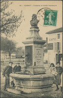 CPA - GANNAT - Fontaine Et Buste Hennequin - Otros Municipios