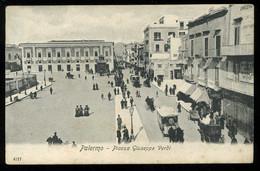 Palermo Piazza Giuseppe Verdi Animato Tramway Pionere - Palermo