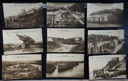 "Militaria - Lot De 9 Cartes Postales - ""Zoute/Knocke/Zeebrugge/Mariakerke/Coq/Blankenberghe/Clemskerke - 2 Scans - Altri"