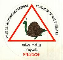 Autocollant  -     Conseil Municipal D'Enfants à CHALONS-sur-MARNE   Escargot  PRUDOS - Stickers