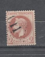 FRANCE / 1863 - 1870 / Y&T N° 26B : Napoléon III Lauré 2c Rouge-brun Clair (type II) - Choisi - étoile GC - 1863-1870 Napoleon III With Laurels