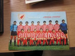 Football Crvena Zvezda 13.5x20 Cm Big Postcards - Soccer