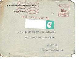 ENVELOPPE : ASSEMBLEE NATIONALE, Au Maire Saint Cyr Du Bailleul Manche, Destination LE HAVRE - Unclassified
