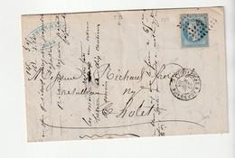 """Lettre Avec Classiques De France: Napoléon N°29  Et Cachet Ambulant Nuit """" Toulouse à Bordeaux"""", 1868 - 1863-1870 Napoleon III With Laurels"""
