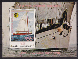 North Jemen 1971, S/s Sports, Miblock 170 MNH. Cv 12 Euro - Yemen