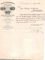 ALLEMAGNE / ZWEIBRUCKEN 1886 /  /  TRES BELLE LETTRE / DINGLER SCHE MASCHINENFABRIK - 1800 – 1899