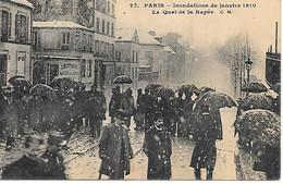 A/161         75     Paris      Inondations De 1910       Le Quai De La Rapée - La Crecida Del Sena De 1910