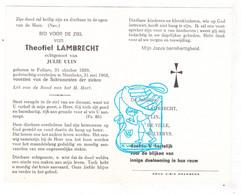 DP Theofiel Lambrecht ° Pollare Ninove 1889 † Meerbeke 1968 X Julie Ulin / De Ville Bulterys - Non Classés