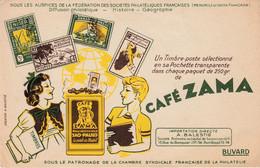 Buvard & Blotter -  Café ZAMA SAO PAULO La Perle Du Brésil -  Un Timbre Poste Sélectionné En Sa Pochette Philatélie - Unclassified